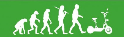 man and scooter evolution